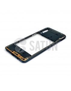 GH98-44765A. Carcasa intermedia Samsung Galaxy A30s negro en perspectiva.