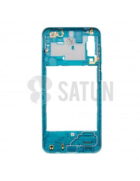 GH98-44765B. Carcasa intermedia Samsung Galaxy A30s verde interior.