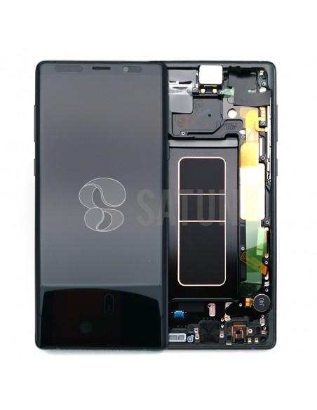 Pantalla con marco Samsung Galaxy Note 9 negro. GH97-22269A y GH97-22270A