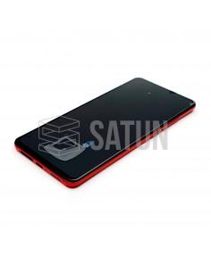 560910014033 . Pantalla con marco Xiaomi Mi 9T rojo llama