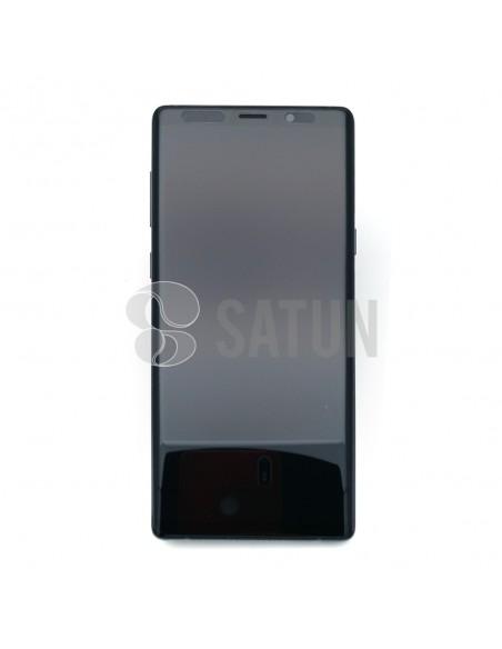 Pantalla Samsung Galaxy Note 9 negro frontal. GH97-22269A y GH97-22270A