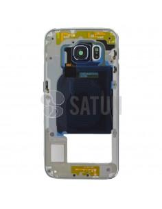 Carcasa intermedia Samsung Galaxy S6 Edge blanco