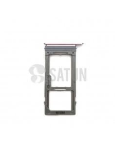 Bandeja SIM y MicroSD Samsung Galaxy Note 9 morado frontal