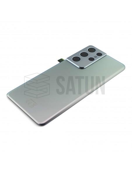 GH82-24499B - Tapa de batería Samsung Galaxy S21 Ultra 5G plata.
