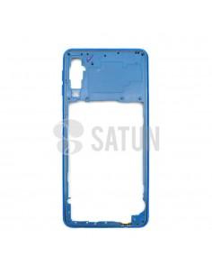 Carcasa intermedia Samsung Galaxy A7 2018 azul frontal