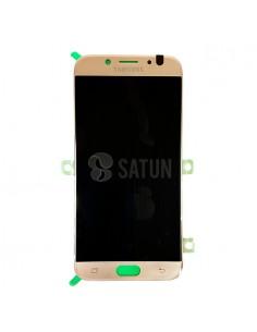 Pantalla Samsung Galaxy J7 2017 oro frontal