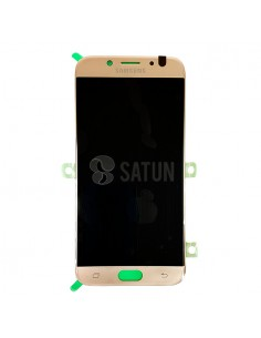 Pantalla Samsung Galaxy J7 2017 oro frontal. GH97-20736C