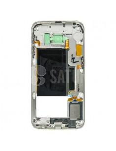Carcasa intermedia Samsung S6 Edge blanco