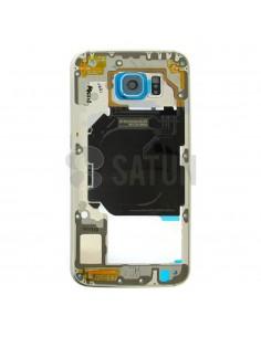 Carcasa intermedia Samsung Galaxy S6 azul frontal